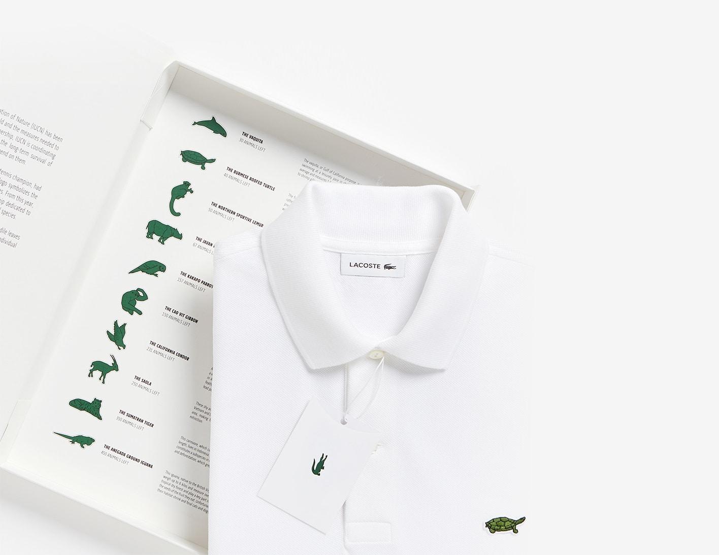 I loghi Lacost su polo speciali e limited edition